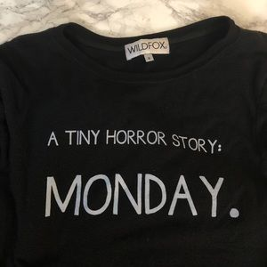 Wildfox Sweaters - Wildfox Couture Tiny Horror Story Baggy Jumper